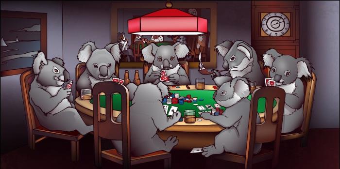 Koala Poker Face - Commissioned